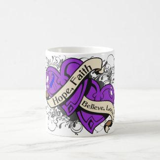 Rheumatoid Arthritis Hope Faith Dual Hearts Classic White Coffee Mug