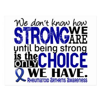 Rheumatoid Arthritis How Strong We Are Postcard
