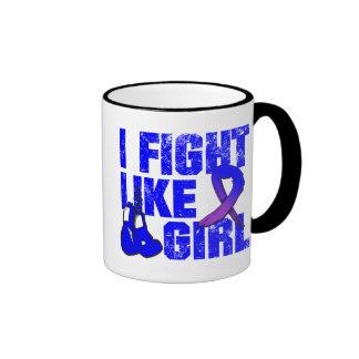 Rheumatoid Arthritis I Fight Like A Girl (Grunge) Ringer Coffee Mug