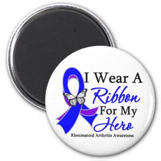 Rheumatoid Arthritis I Wear a Ribbon For My Hero 2 Inch Round Magnet
