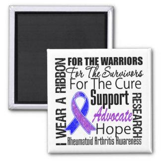 Rheumatoid Arthritis I Wear a Ribbon TRIBUTE 2 Inch Square Magnet