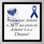 Rheumatoid Arthritis is not just..Awareness Poster