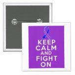Rheumatoid Arthritis Keep Calm and Fight On Button