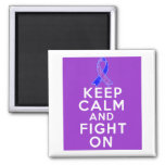 Rheumatoid Arthritis Keep Calm and Fight On 2 Inch Square Magnet
