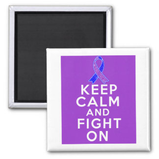Rheumatoid Arthritis Keep Calm and Fight On Refrigerator Magnets