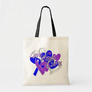 Rheumatoid Arthritis Love Hope Cure Canvas Bags
