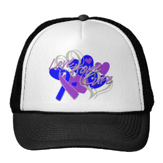 Rheumatoid Arthritis Love Hope Cure Trucker Hats