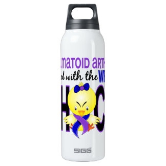 Rheumatoid Arthritis Messed With Wrong Chick 16 Oz Insulated SIGG Thermos Water Bottle