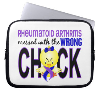 Rheumatoid Arthritis Messed With Wrong Chick Computer Sleeves