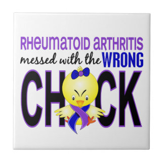 Rheumatoid Arthritis Messed With Wrong Chick Small Square Tile