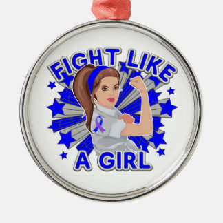 Rheumatoid Arthritis Mod Rosie Fight Like a Girl Christmas Ornaments