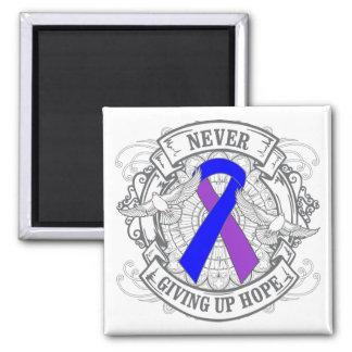 Rheumatoid Arthritis Never Giving Up Hope 2 Inch Square Magnet