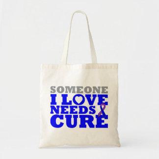 Rheumatoid Arthritis Someone I Love Needs A Cure Canvas Bags