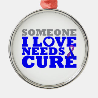 Rheumatoid Arthritis Someone I Love Needs A Cure Round Metal Christmas Ornament