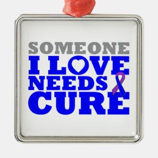 Rheumatoid Arthritis Someone I Love Needs A Cure Square Metal Christmas Ornament