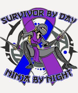 Rheumatoid Arthritis Survivor By Day Ninja Night T-shirt