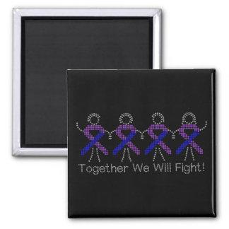 Rheumatoid Arthritis Together We Will Fight Fridge Magnets