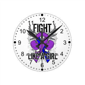 Rheumatoid Arthritis Ultra Fight Like A Girl Round Clocks