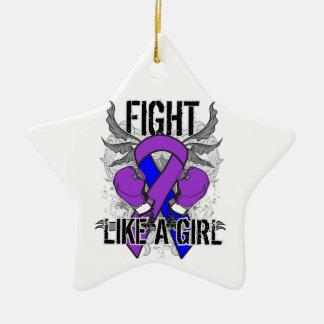 Rheumatoid Arthritis Ultra Fight Like A Girl Christmas Tree Ornaments