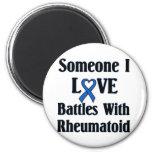 Rheumatoid RA 2 Inch Round Magnet