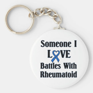 Rheumatoid RA Basic Round Button Keychain