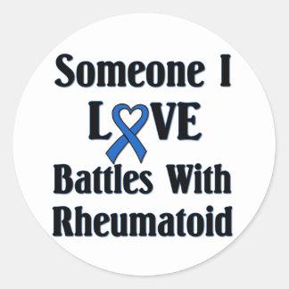 Rheumatoid RA Round Sticker
