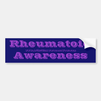 RheumatoidAwareness - in the RA awareness colors! Bumper Sticker