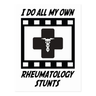 Rheumatology Stunts Postcard