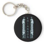 Rhiannon Celtic Horse Keychain, Black Keychain