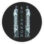 Rhiannon Celtic Horse Sticker, Black Classic Round Sticker