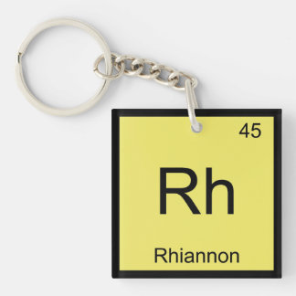 Rhiannon Name Chemistry Element Periodic Table Keychain