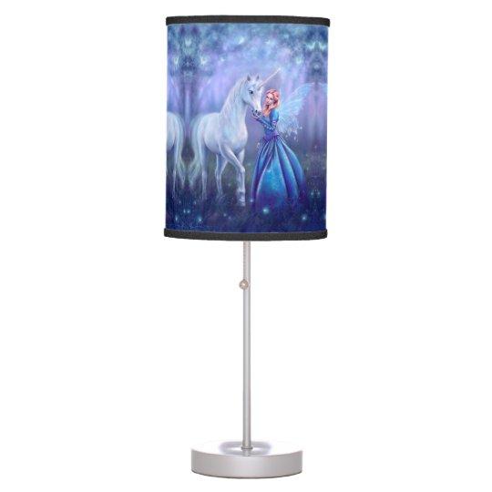 Rhiannon - Unicorn and Fairy Art Table Lamp | Zazzle.com