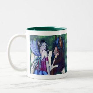 Rhiannon y su taza del caballo de Fae