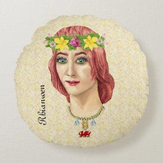 Rhianwen, Welsh Goddess Round Pillow