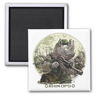Rhin Ops Special Operations Forces Gear 2 Inch Square Magnet