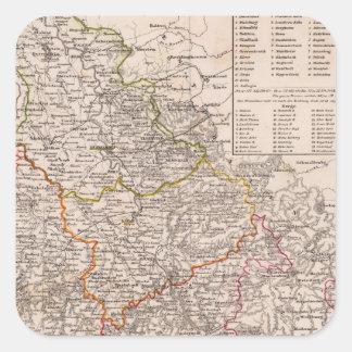 Rhin Provinz, Alemania Pegatinas Cuadradases Personalizadas