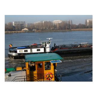 Rhine barge, Traditional Belgian barge Postcard