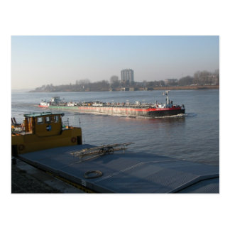 Rhine barges, midstream near Antwerp Postcard