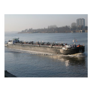 Rhine barges, Tanker barge in the Scheldt Postcard