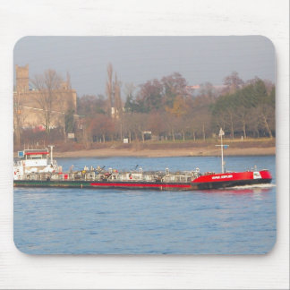 Rhine barges; Tanker barge Mouse Pad