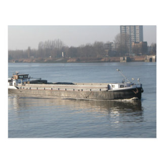 Rhine barges, Traditional style barge Postcard
