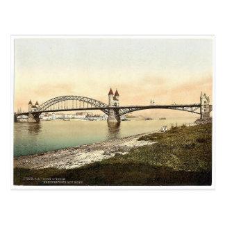 Rhine Bridge, Bonn, the Rhine, Germany rare Photoc Postcard