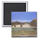 Rhine Falls At Schaffhausen By Thoma Hans Fridge Magnets