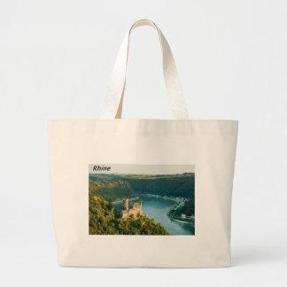 Rhine Germany  Angie. Large Tote Bag