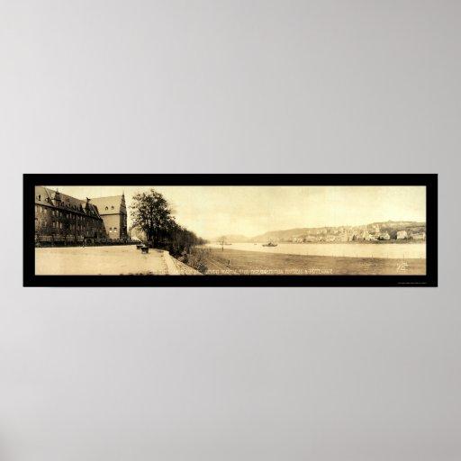Rhine River Coblenz Photo 1919 Print