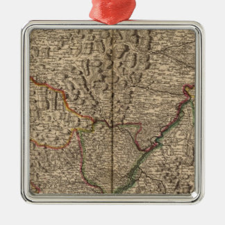 Rhine River Valley in Germany and France Ornament