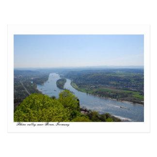 Rhine river valley near Bonn, Germany Postcard