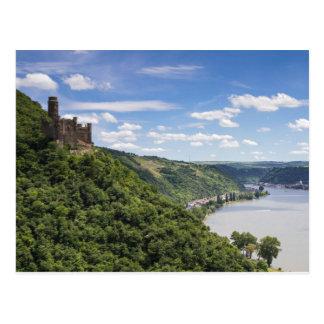 Rhine Valley - Castle Maus postcard