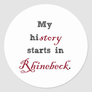 Rhinebeck is My History Round Sticker