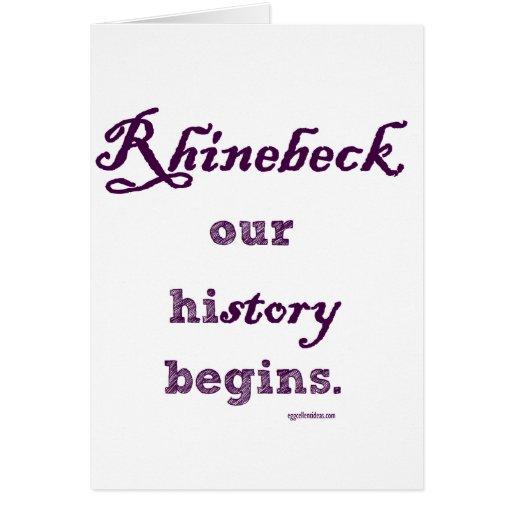Rhinebeck, mi historia comienza aquí tarjeta de felicitación